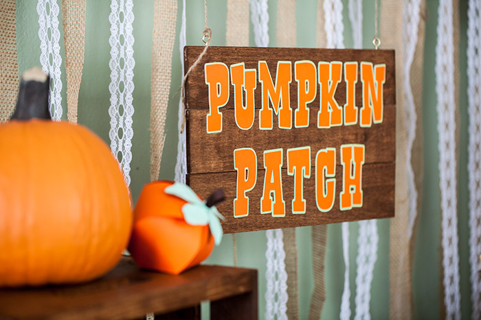 Rustic Fall Little Pumpkin Baby Shower, Pumpkin Patch Sign
