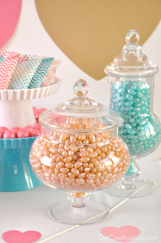 Jelly Belly Candy Jars for Dessert Table