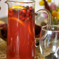 Cranberry Ginger Orange Holiday Drink - 4 ingredients - amazing at ANY holiday party!