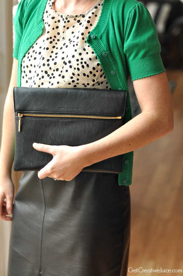 Zappos Black French Connection Clutch