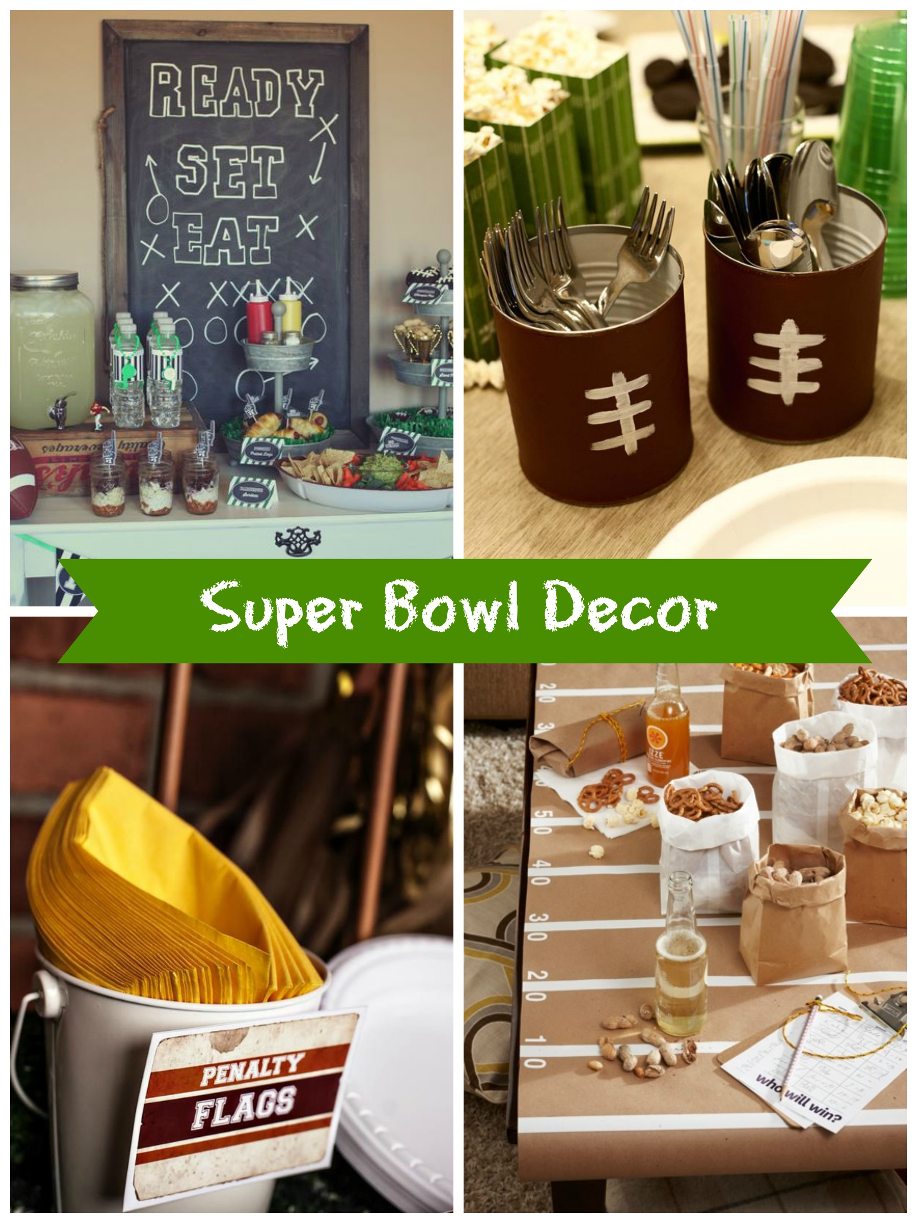 decorations football squared party themed decor fun tailgate