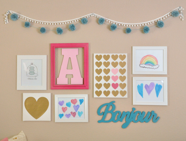 Pink, Teal, Macaron, & Heart Themed Girls Room Ideas - Artwork Gallery