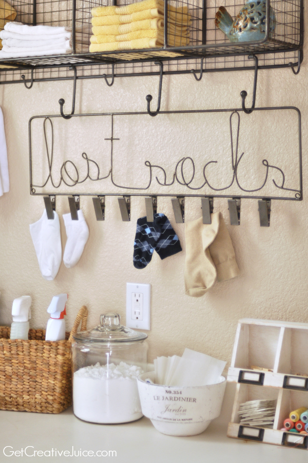 Lost Socks Laundry Room Organizer