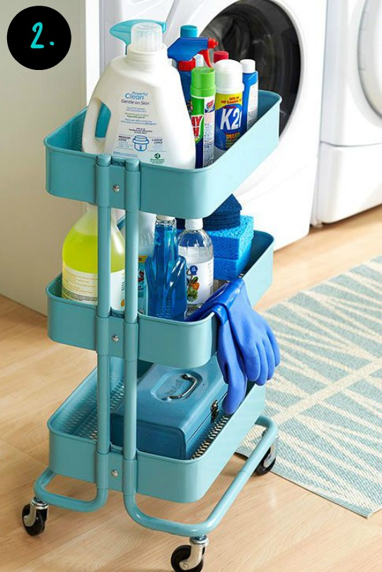 Ikea nursery cart : Ikea rask og utility cart hack
