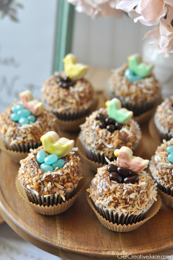 Birds Nest coconut and chocolate cupcakes