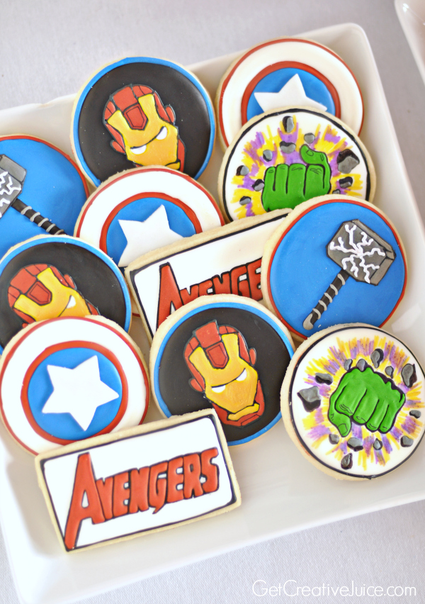Avengers Decorated sugar cookies - Avengers Party