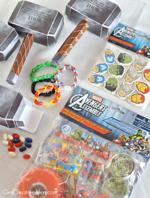 Avengers Favor boxes and party favors