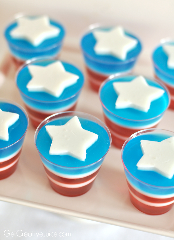 Captain America Jello - Avengers party food ideas