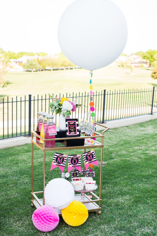 10 Mother's Day Brunch, Mimosa Bar Cart, 36 inch Balloon