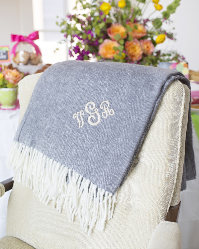 10 Mother's Day Coffee With Mom, Monogrammed Blanket
