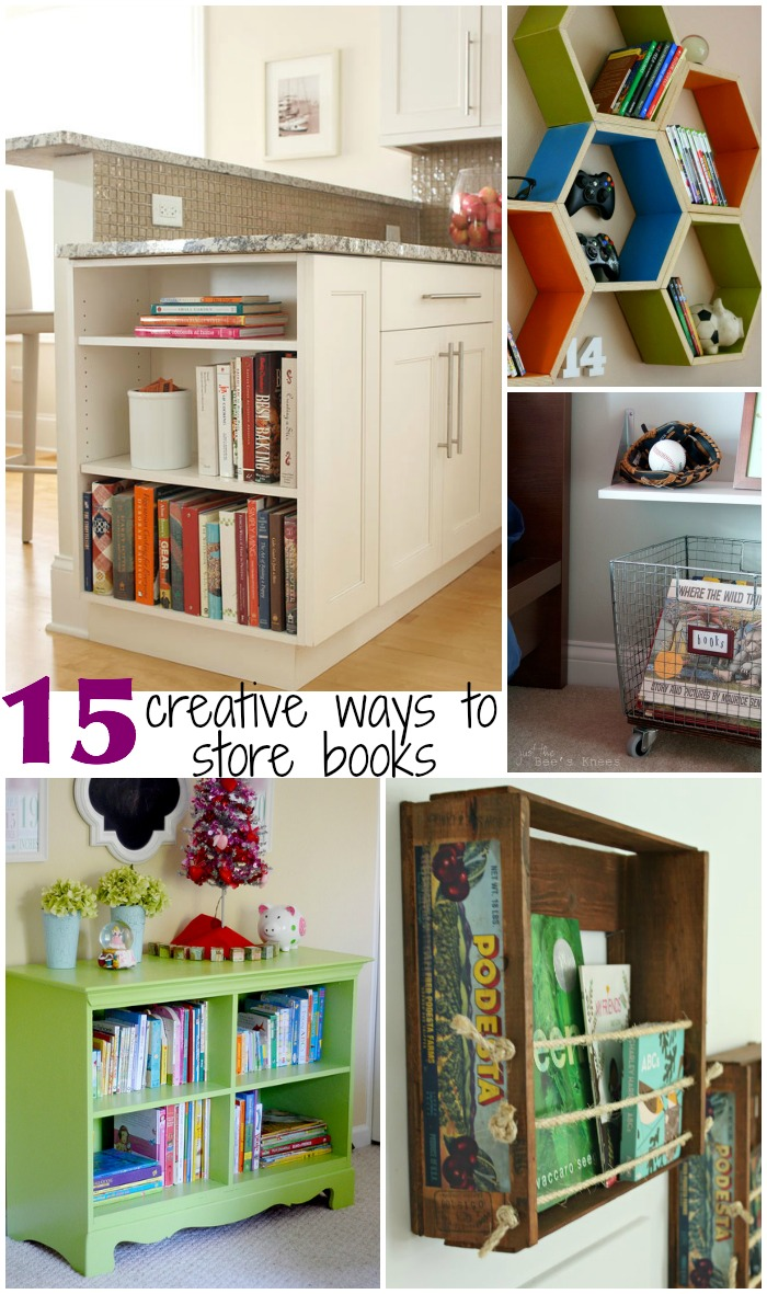 15 Creative Ways to Store Books
