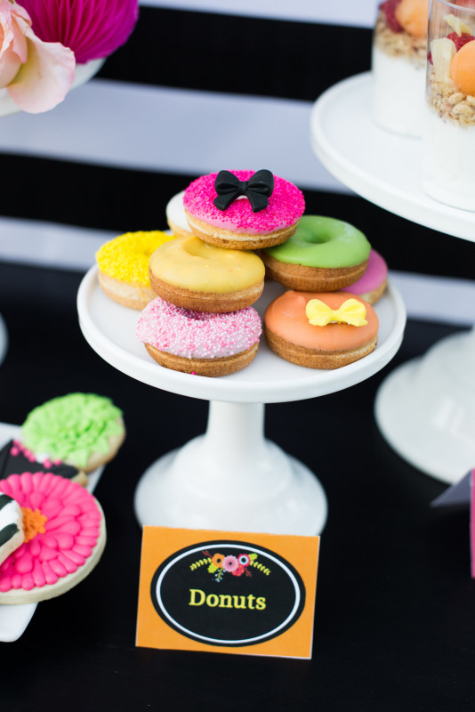 4 Custom Donuts to match Mother's Day Brunch