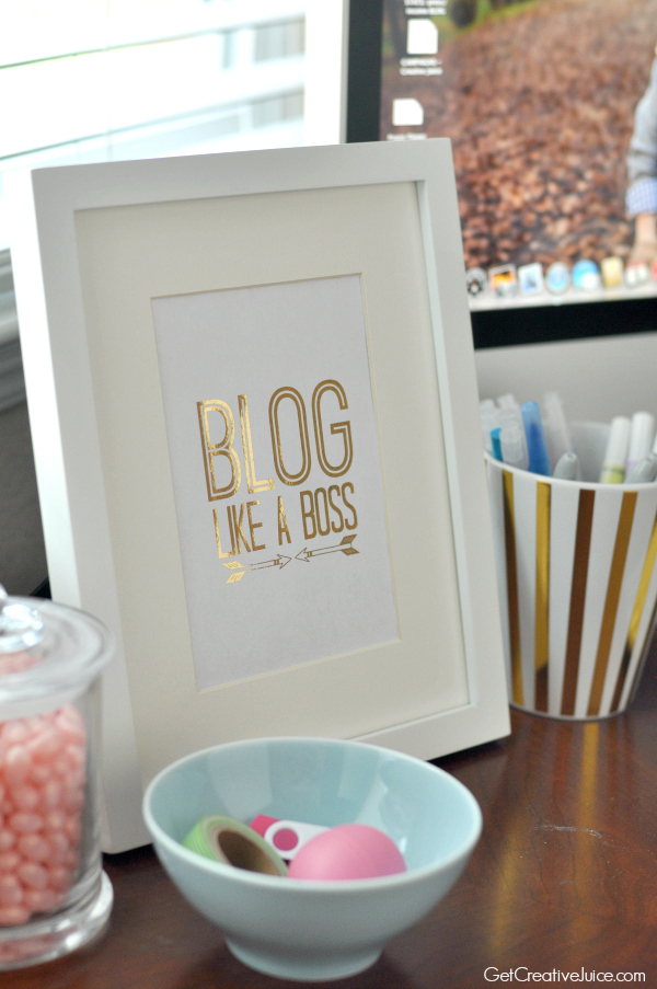Free Blog Like a Boss Art Print
