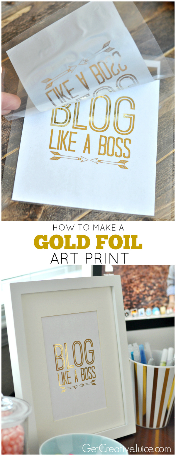 How to make a gold foil art print - tutorial
