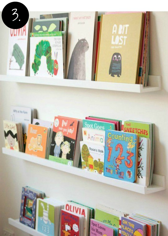 Creative Bookshelves and Storage Ideas for the Kids