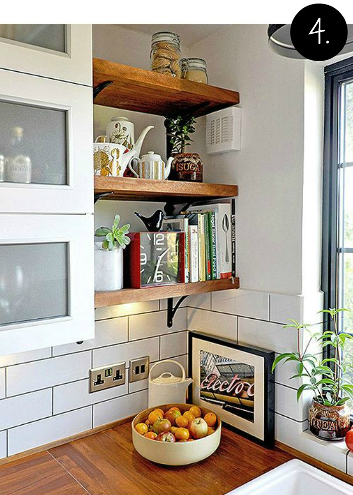 Creative Bookshelves and Storage Ideas for the Kitchen