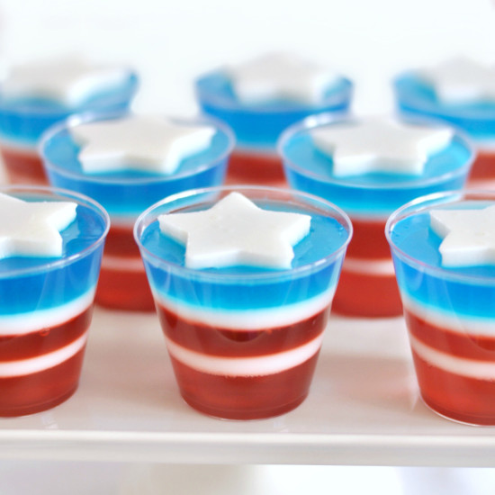 4th of July Recipes – Red White and Blue Jello