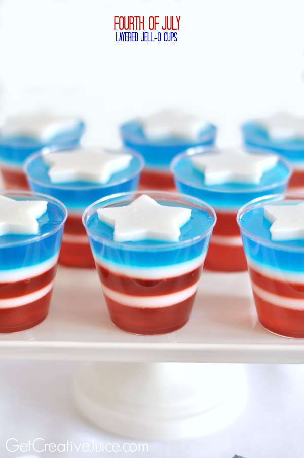 4th of July Jell-O cups - Red White and Blue Jell-O