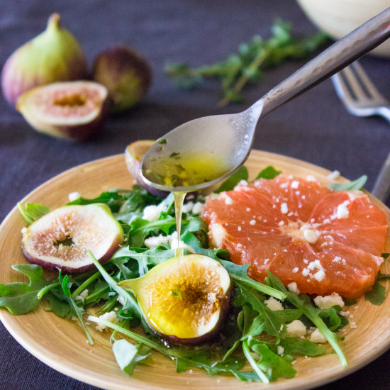 Citrus Fig Salad Recipe with Honey-Thyme Vinaigrette