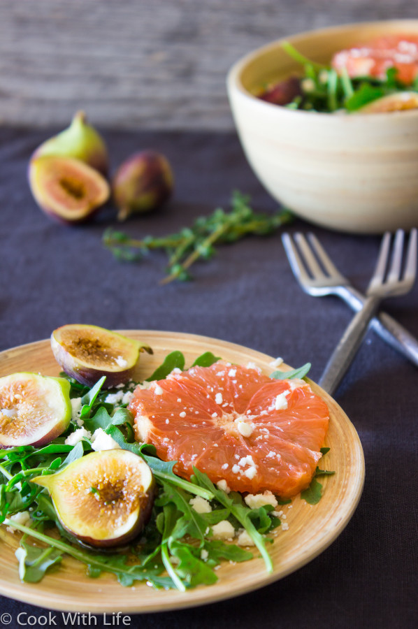 Citrus Fig Salad with Honey-Thyme Vinaigrette