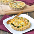 Kale and Bacon Quiche with a Cracker Crust