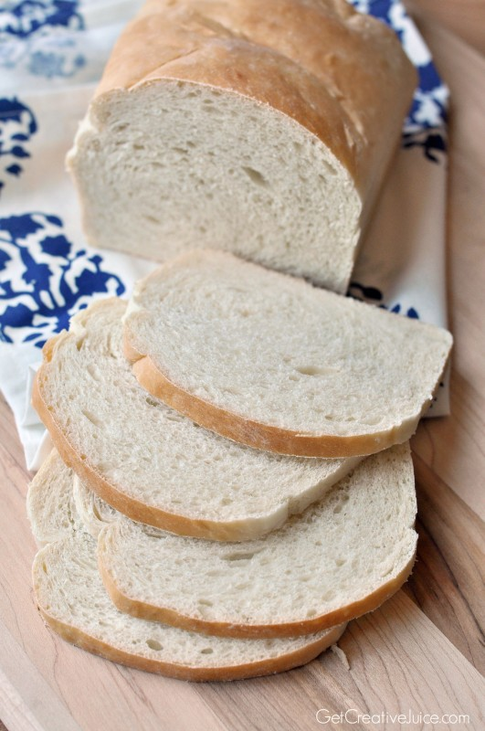 Homemade Sandwich White Bread Recipe