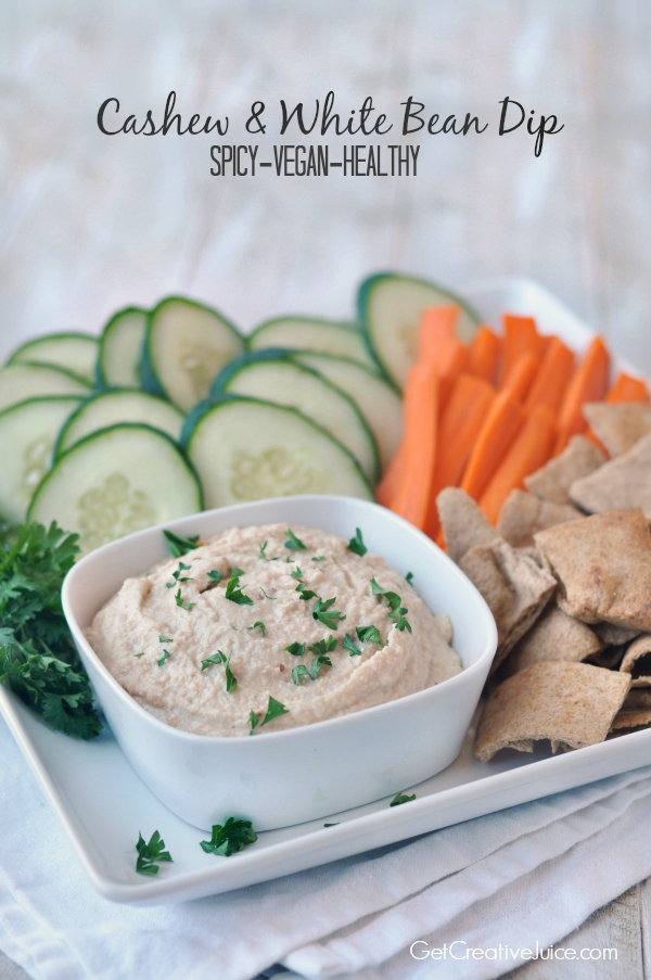 Cashew and White Bean Dip - Vegan, Spicy, Healthy