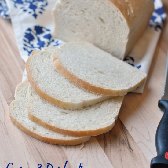 Easy White Sandwich Bread Recipe