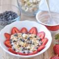 Strawberry Yogurt bowl with toppings