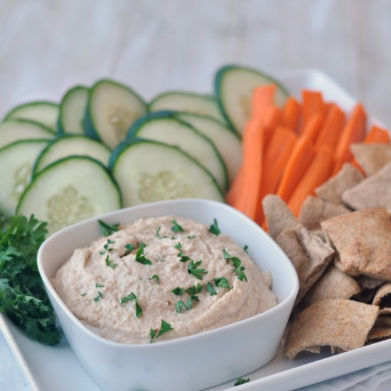 Spicy Vegan Cashew and White Bean Dip Recipe