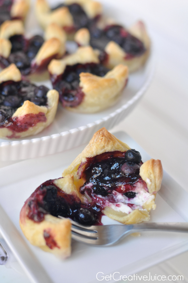 Blueberry Cheesecake pastry bites