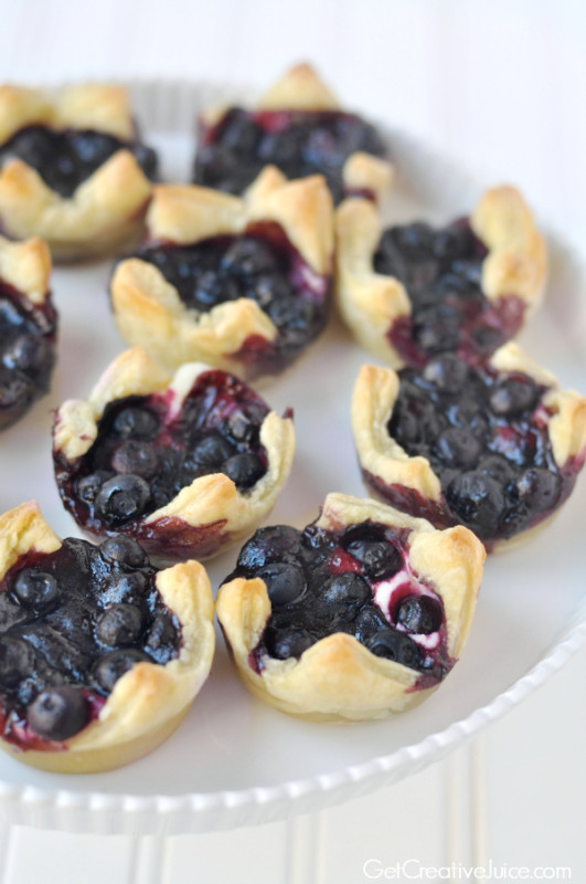 Lemon Blueberry Cheesecake Pastry Bites - Creative Juice