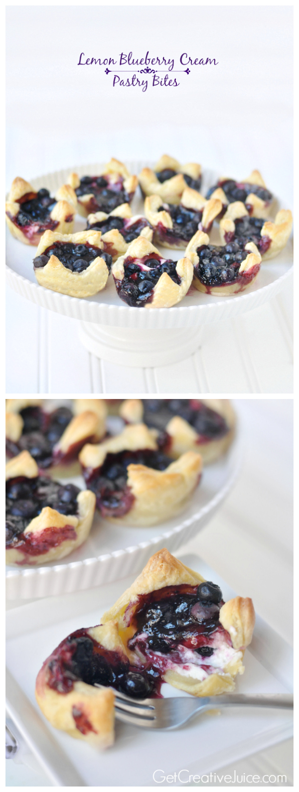 Lemon Blueberry Cheesecake Pastry Bites - Recipe and Tutorial