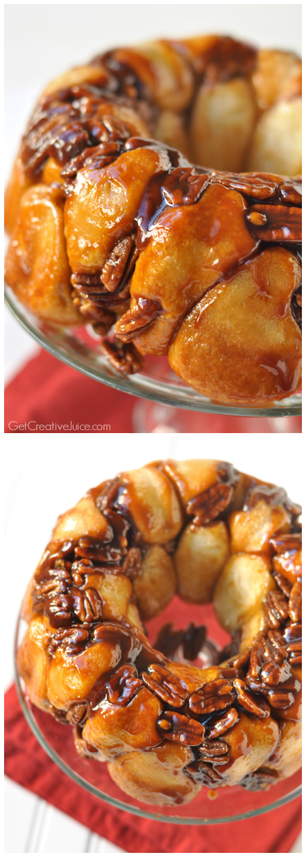 Pecan Butterscotch Monkey Bread - 5 ingredient recipe