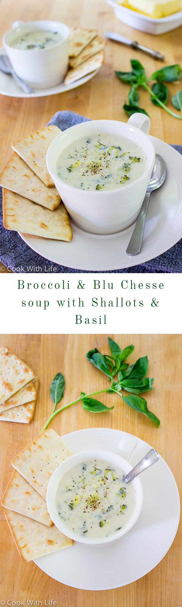 Broccoli Blu Cheese Soup Diptypch