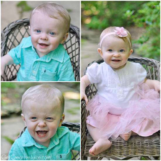 One Year Old Triplets- Portraits and Milestones