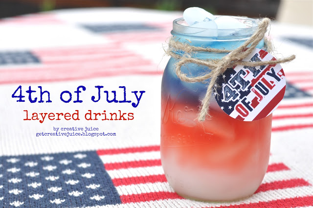 4th of july layered drinks tutorial