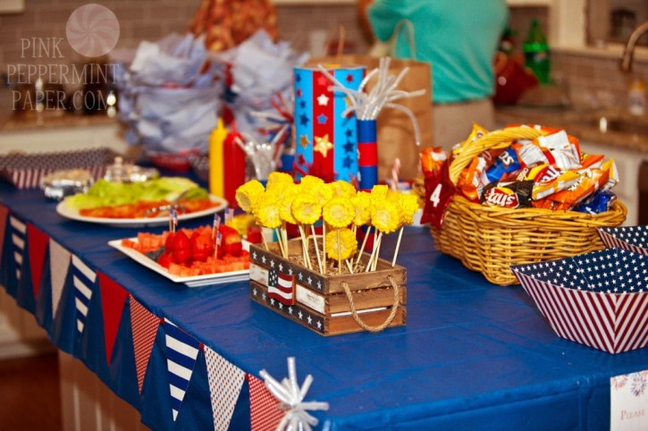 Fourth of July table spread