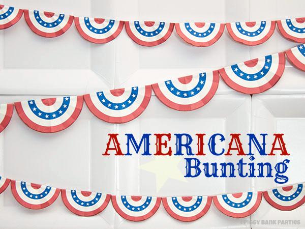 Americana Bunting - free printable