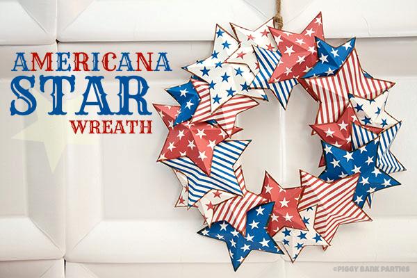 americana star wreath cute printable