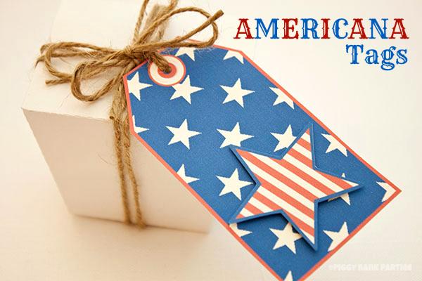 Piggy Bank Parties Americana Tags