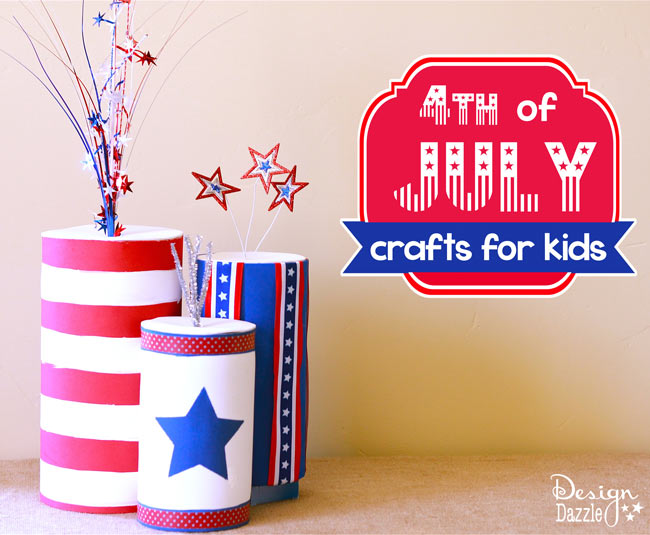 4th of july crafting with kids - Design Dazzle