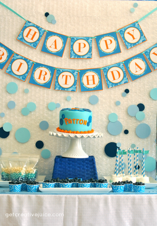 Bubble Birthday Party Decorations Dessert Table 2