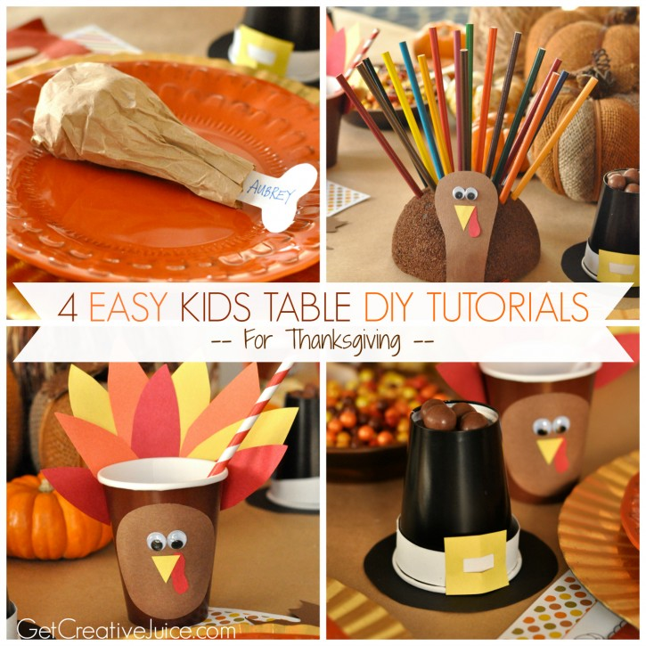 Easy Decorations: 4 Easy Kids Thanksgiving Table Craft Tutorials