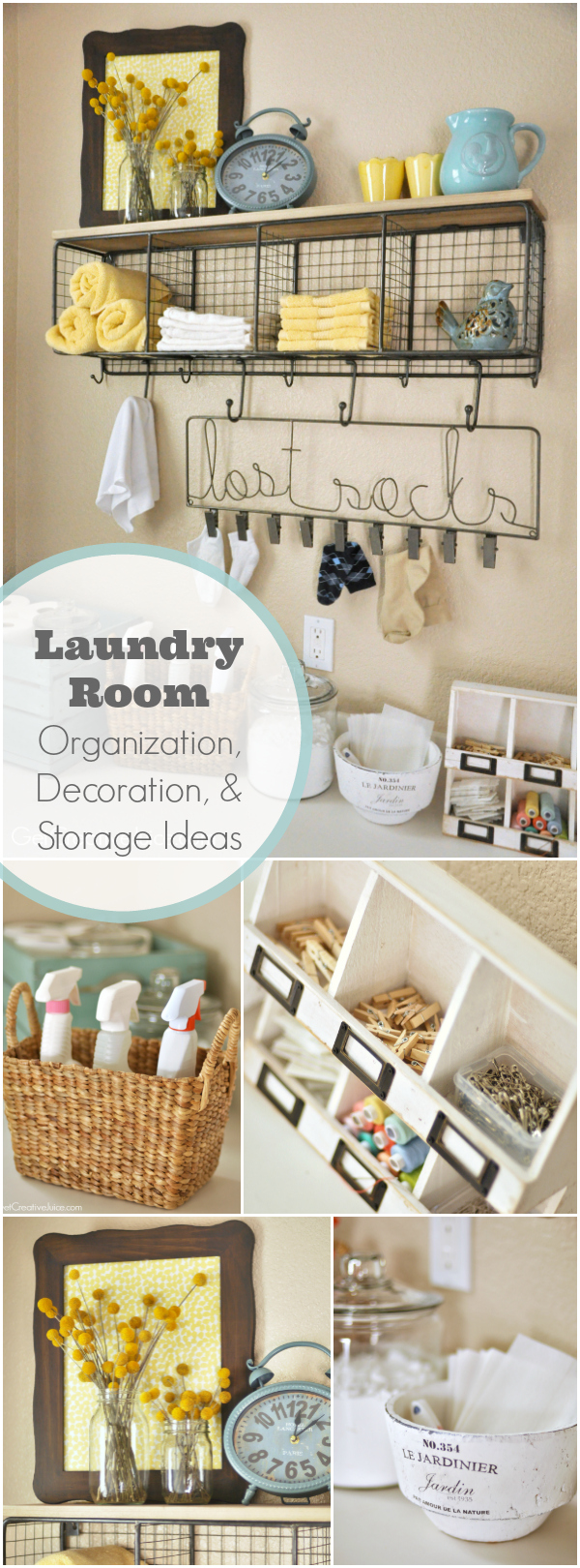 Laundry Room Organization and Storage Ideas - Creative Juice on Laundry Room Organization Ideas  id=93213