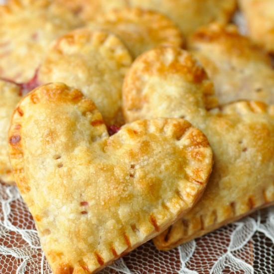 Heart Shaped Raspberry Hand Pies
